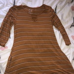 Mustard colored striped tunic